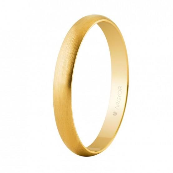 Alianza de boda clásica oro satinada 3mm (50305S)