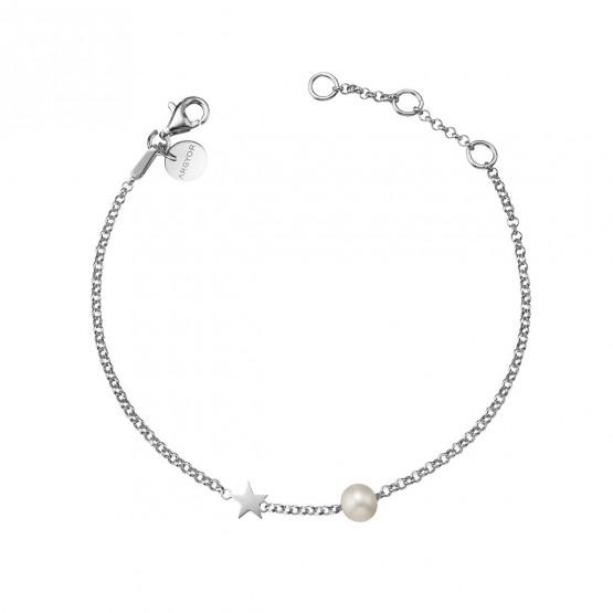 Pulsera de plata de ley 925 Perla y Estrella (4B8307301)
