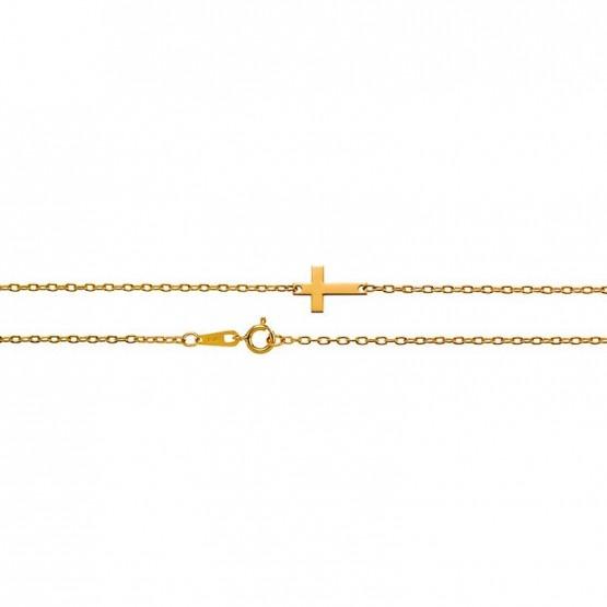 Pulsera de oro con diseño cruz (48307100)