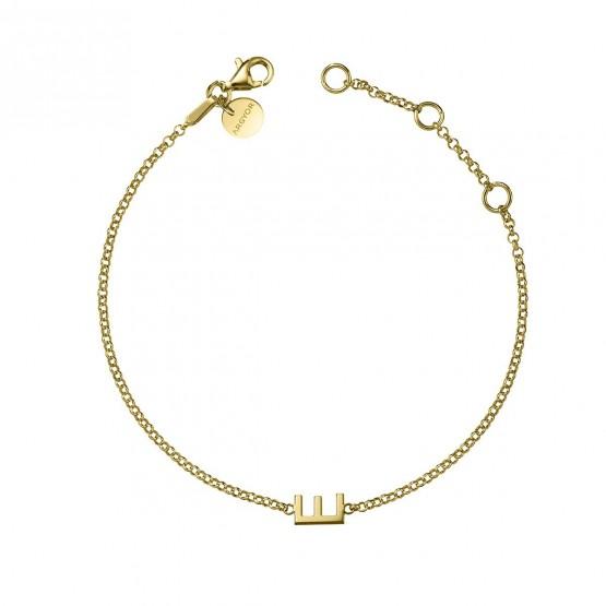 Pulsera de oro amarillo 18k con Letra (4A8307310)