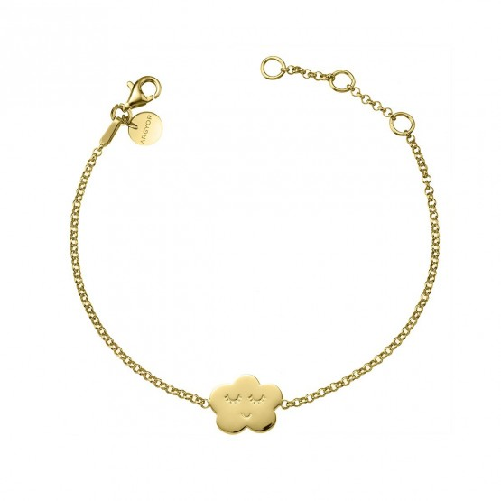 Pulsera de plata dorada ley 925 Nube sonriente (4A8307316)