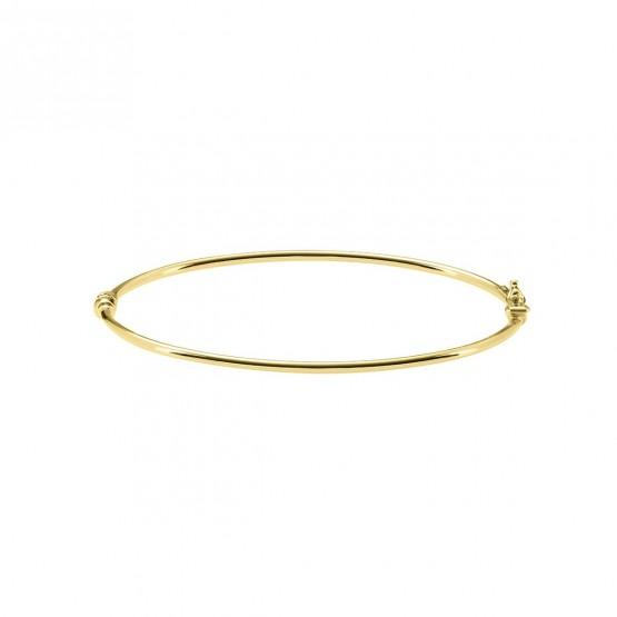 Brazalete de tubo 1.9mm de oro amarillo 18k (0470100A)