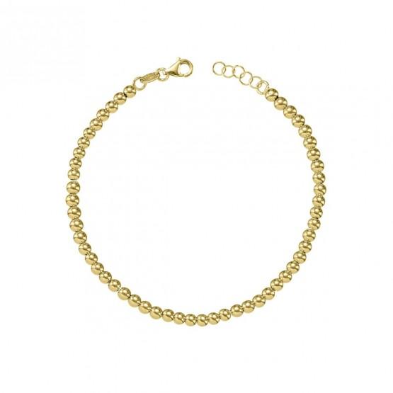 Pulsera de bolas de oro amarillo 18k 3mm (044A123PUL)