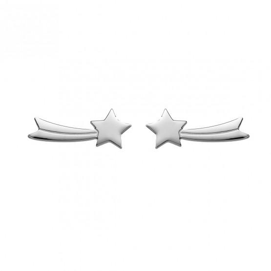 Pendientes de plata de ley 925 Estrella Fugaz (6B8307312)