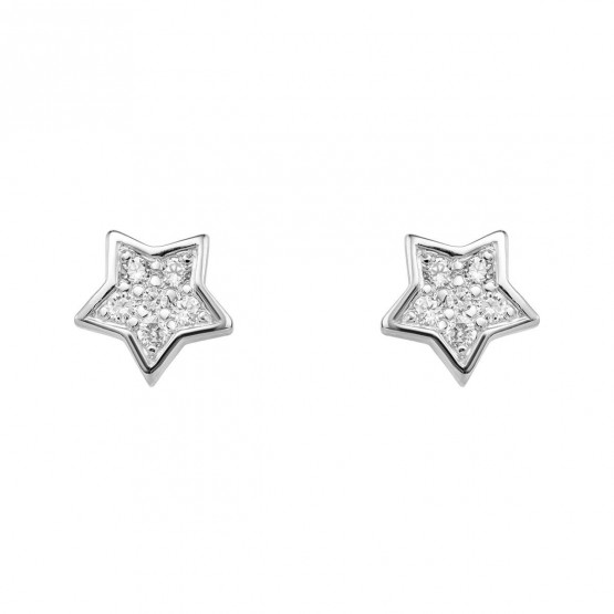 Pendientes Estrella diamantes y oro blanco (76BPE005)