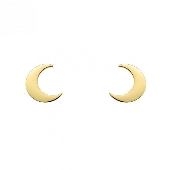 Pendientes de plata dorada con forma de luna (6A8307300B)