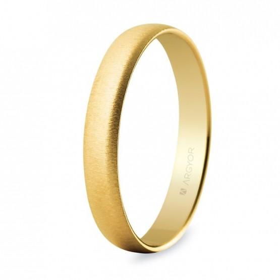 Alianza de boda oro 3,5mm texturizada (50353T)