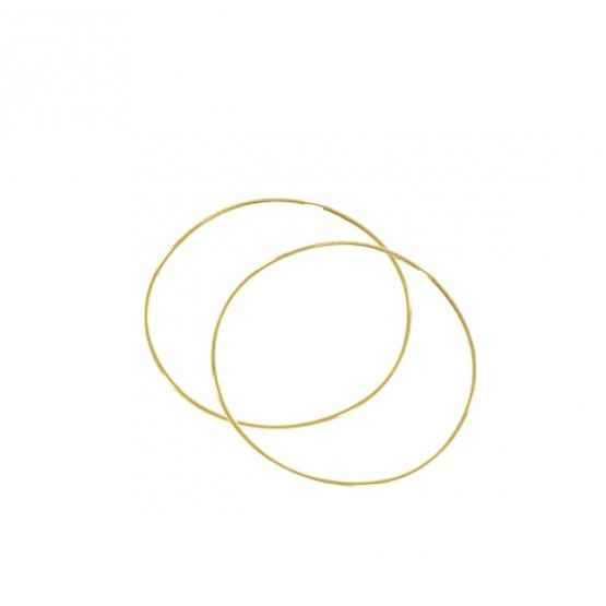 Aros de oro de 18k diámetro de 50mm (06A0150)