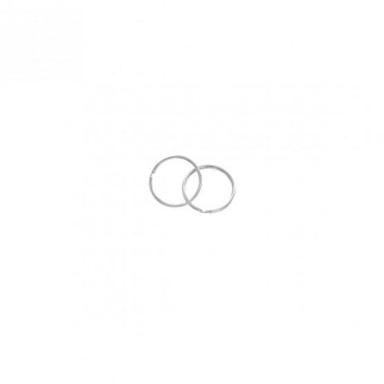Pendientes de Aro en oro blanco 10mm (06B0110)