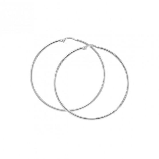 Aros de oro blanco estilo criolla 40mm (06B0240)