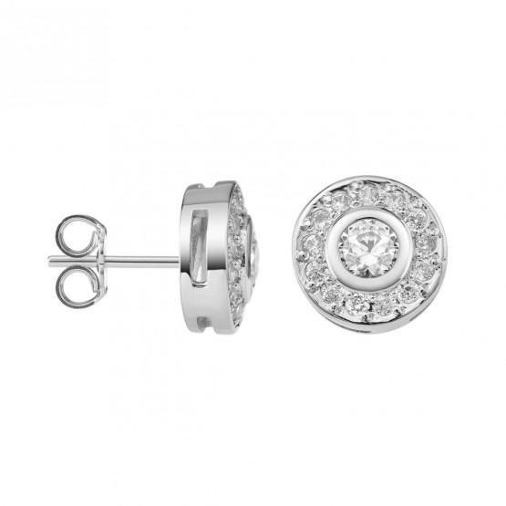 Pendientes de platino con Diamantes roseta (75B0104)