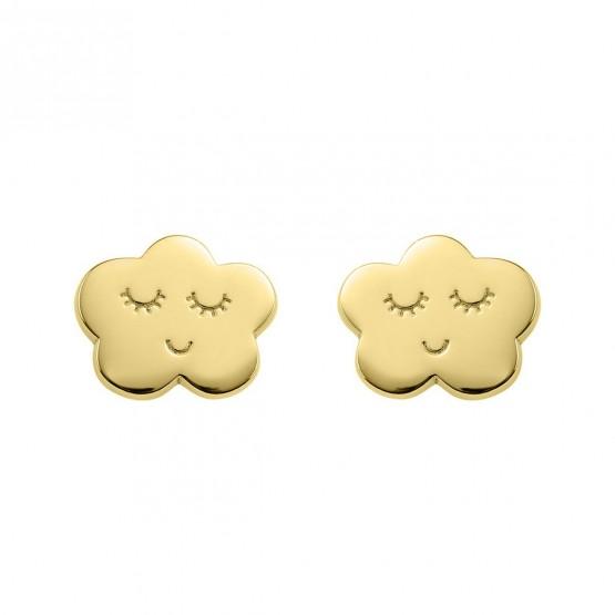 Pendientes plata de 1ª ley dorada Nube (6A8307316)