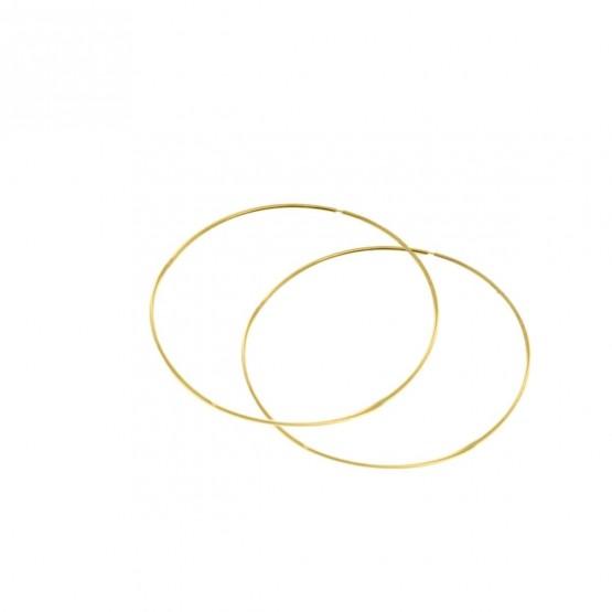 Pendientes de aro en oro amarillo 60mm (06A0160)