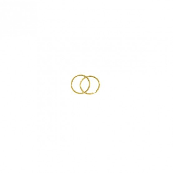 Pendientes de aro de oro amarillo 8mm (06A0108)