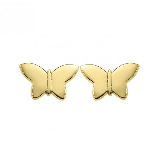 Pendientes de plata dorada Mariposa (6A8307317)