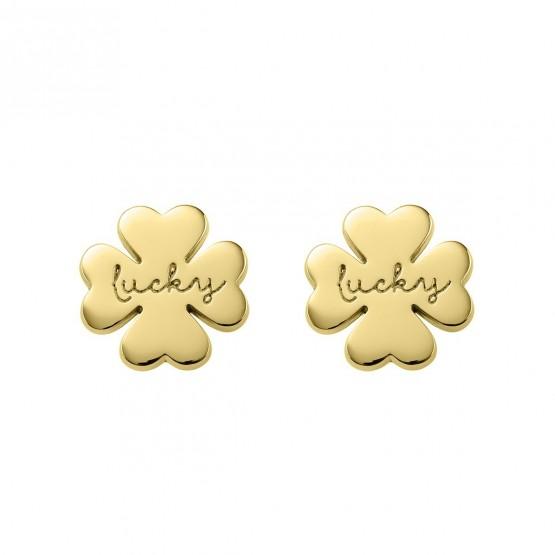 """Pendientes de plata dorada Trébol """"Lucky"""" (6A8307318)"""