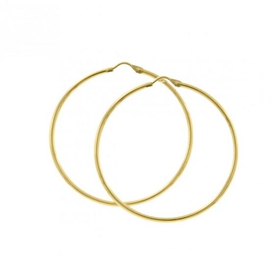 Pendientes de aro estilo criolla de oro 40mm (06A0250)