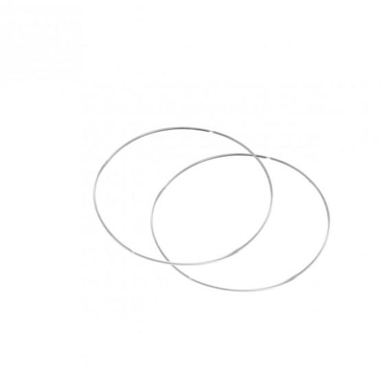 Aros de oro blanco de 60mm de diámetro (06B0160)