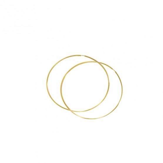 Aros de oro amarillo de 40mm (06A0140)