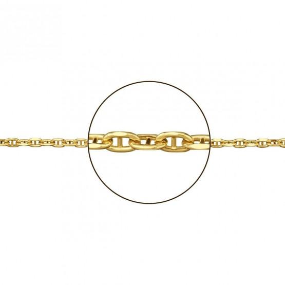 Cadena de oro marina forzada hueca (094130050)