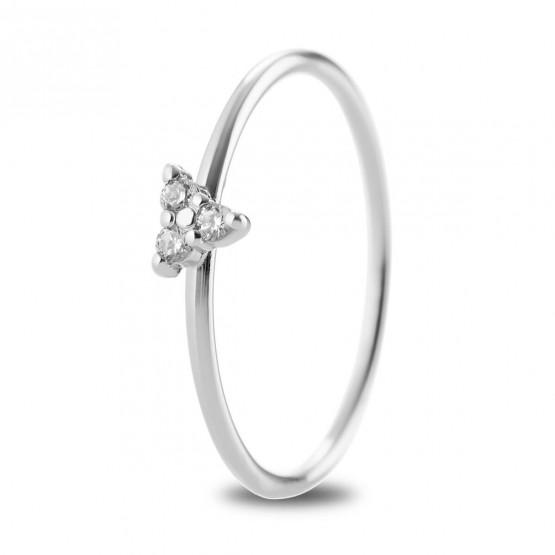 Anillo Triángulo de diamantes en oro blanco 18k (76BAN002)