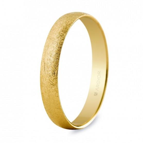 Alianza de boda en oro de 2,5mm efecto hielo (50253H)