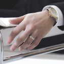 Alianza de plata torneada satinada-brillante 4mm (5740266)
