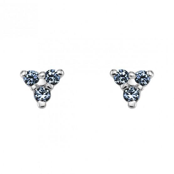 Pendientes oro triangulo con zafiros azules (76BPE002ZA)