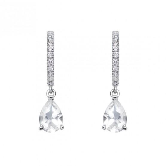 Pendientes de novia con topacios y diamantes (75B0215TT)
