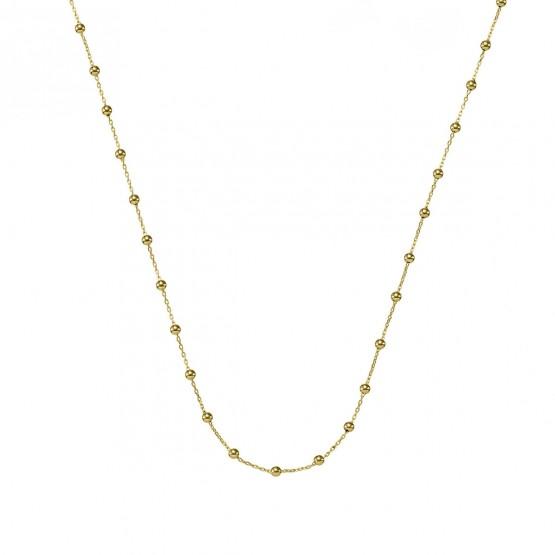 Collar oro 18k de bolas con cadena (0410102A)