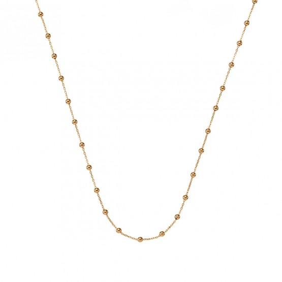 Collar oro rosa de bolas con cadena (0410102R)