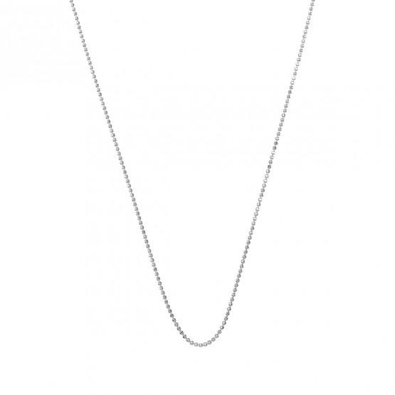 Cadena con bolas de oro blanco pulido brillo 0.90mm (0410108B)