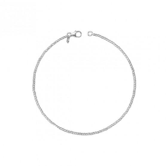 Pulsera oro blanco bolas fantasía 1.4 mm (044B117PUL)