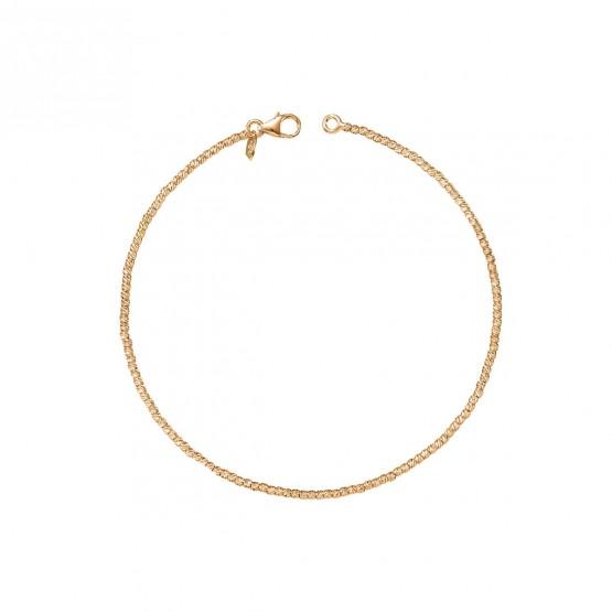 Pulsera oro rosa bolas fantasía 1.4 mm (044R117PUL)