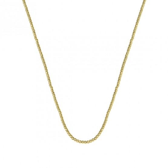 Collar oro 18k fantasía bolas diamantadas (044A118COL)