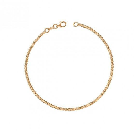 Pulsera oro rosa bolitas diamantadas 1.9mm (044R118PUL)