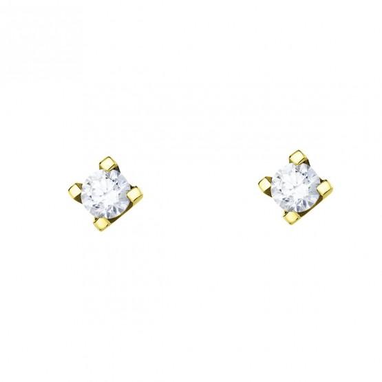 Pendientes de oro con circonita (75A0009Z)