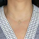 Cruz de oro con circonitas o diamantes (75A0020Z)