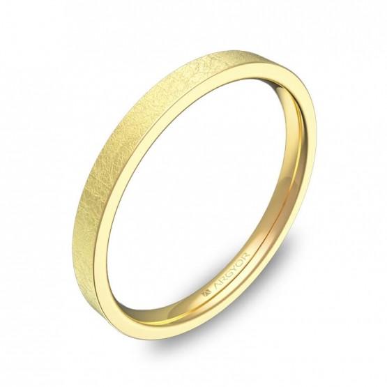Alianza plana gruesa 2mm en oro amarillo hielo B0120H00A