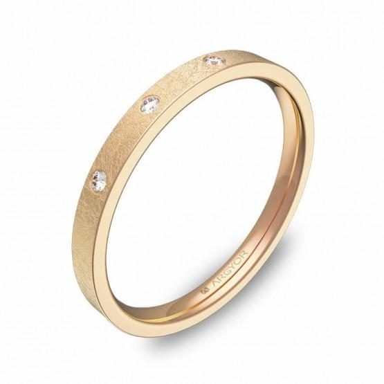 Alianza de oro 2mm oro rosa hielo con diamantes B0120H3BR
