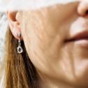 Pendientes de novia largos con forma de lágrima (75B0217TT)