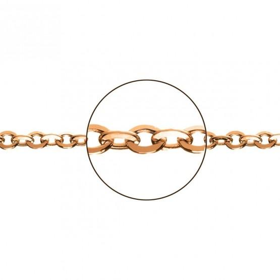 Cadena de oro rosa 18k modelo rolo plana (066283040)