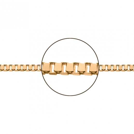 Cadena de oro rosa 18k modelo veneciana (066103045)