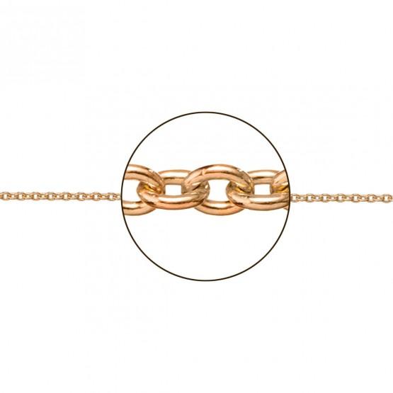 Cadena de oro rosa18k modelo rolo (066263020)