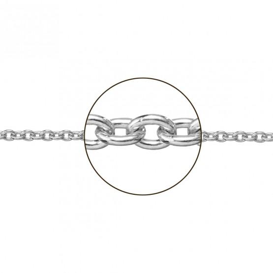 Cadena de oro blanco de 18k en forma rolo (066272030)