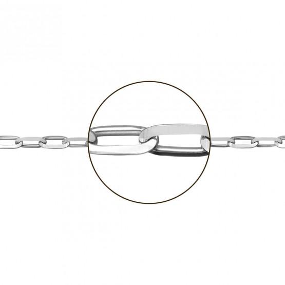 Cadena de oro blanco 18k modelo forzada (066152040)
