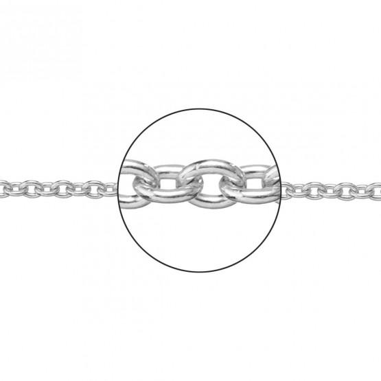 Cadena de oro blanco de 18k en forma rolo 1.30mm (066272035)
