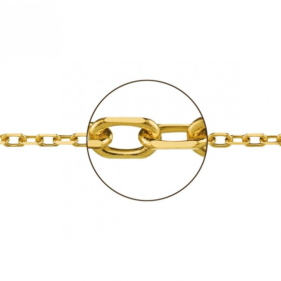 Cadena de oro 18k forzada (033155065)