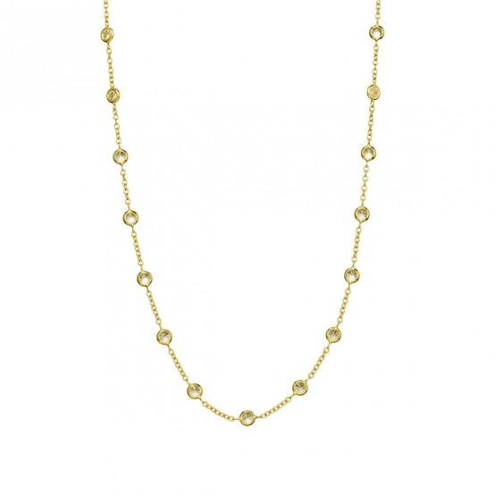Collar oro amarillo con 26 circonitas (043A101COL)