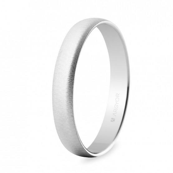 Alianza boda oro blanco texturizada 3,5mm (5B353T)